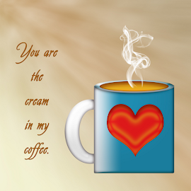 by Dipali S - Typography Words ( cup, abstract, creation, text, heart, greeting, font, illustration, wallpaper, coffee, cream, print, love, ecard, pattern, background, greetings, artistic, typography, design )