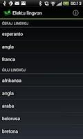 Screenshot of PReVo - Vortaro de Esperanto