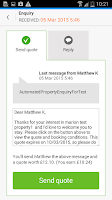 Screenshot of Holiday Lettings owner app