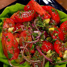 Herb and Tomato Salad with Preserved Lemons