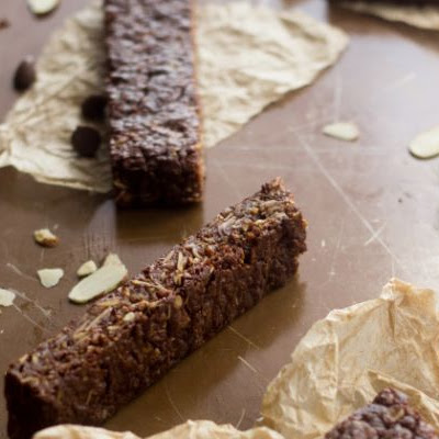 Chocolate Protein Bars Chock-Full of Almonds