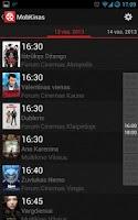 Screenshot of MobKinas - kino tvarkaraščiai