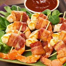 Barbecue Marinated Bacon Wrapped Shrimp