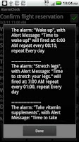 Screenshot of Alarm Clock/Personal Assistant