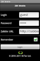 Screenshot of ZBX Mobile Pro