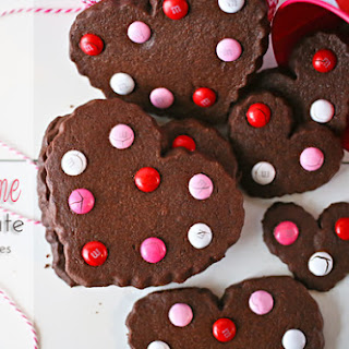 Valentine Chocolate Sugar Cookies