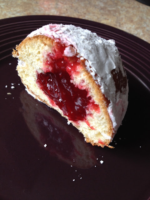 Raspberry jelly filled Paczki