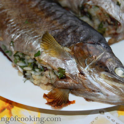 Rice Stuffed Trout