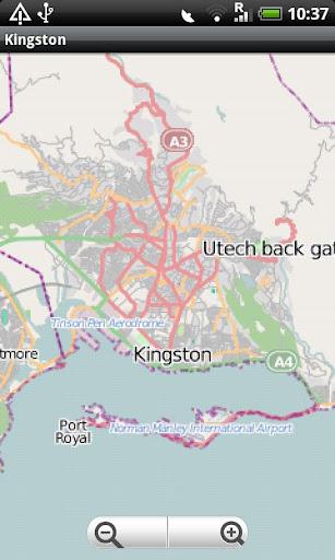 Kingston Jamaica Street Map