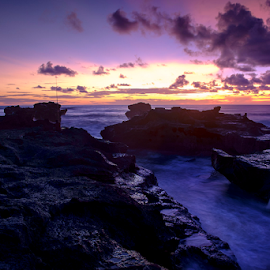 Sunset At Cemagi Beach by Ferdinand Ludo - Landscapes Sunsets & Sunrises ( bali, cemagi beach, indonesia )