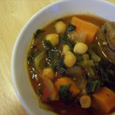 Lamb Stew with Spinach and Garbanzo Beans