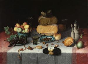 RIJKS: Floris Claesz. van Dijck: Still Life with Cheese 1615
