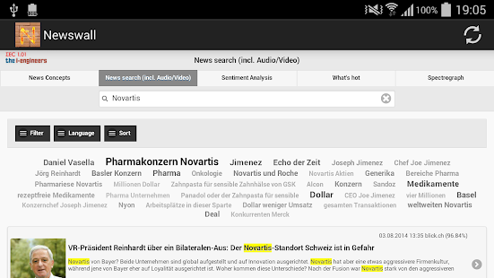 Swiss Newswall - screenshot