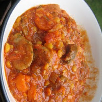 Hearty Lentil Soup with Smoked Sausage