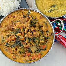 Black Eye Pea Ham and Collard Green Curry for the New Year