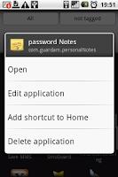 Screenshot of App Name Editor