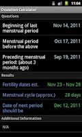 Screenshot of Ovulation Calculator