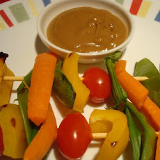 Thai-Style Veggie Kabobs With Spicy Peanut Sauce