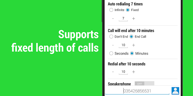 how to set auto redial in android