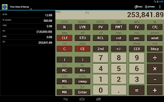 Screenshot of NeoCal Financial Calculator