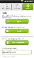 Screenshot of Bill Buddy (Share expenses)