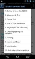 Screenshot of GCF Word 2010 Tutorial