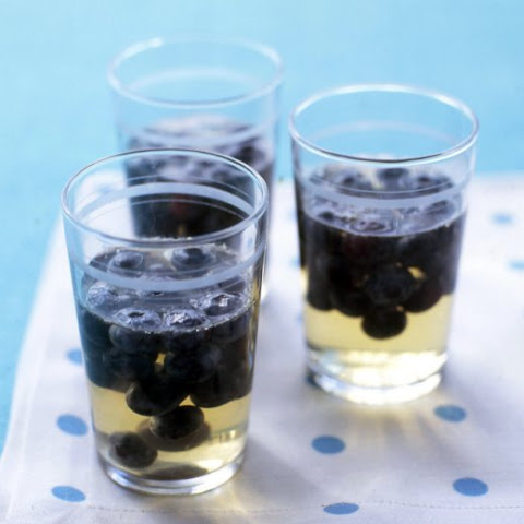Grape Gelatin with Blueberries