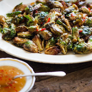 Crispy Fried Brussels Sprouts Recipe with Mom's Chili Fish Sauce