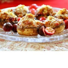 Cranberry Stuffed Mushrooms