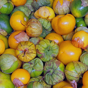 Tomatillos at the Tepoztlan mercado by Suzanne Black - Food & Drink Fruits & Vegetables (  )