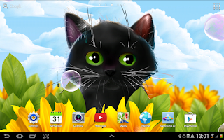 Screenshot of Cute Kitten Live Wallpaper