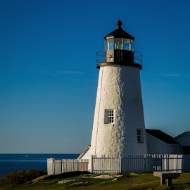 Pemaquid Maine Lighthouse by James Kirk - Buildings & Architecture Public & Historical ( water, lightouse, buildings, historic )