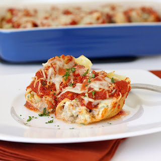 Turkey and Artichoke Stuffed Shells with Arrabbiata Sauce