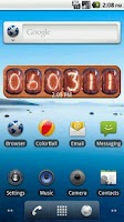 Screenshot of Nixie Clock Widget