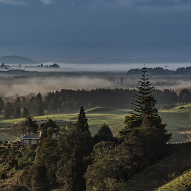 Early Morning Mist by Rick Lussi - Landscapes Weather ( fog, valley, landscape, early morning )
