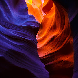Inside by Lajos Fekete - Landscapes Caves & Formations ( warm, cold, colors, cave, ludovic, purple, yellow, color )