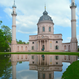 Garden Mosque in Schwetzingen Palace by Katie Matheson - Buildings & Architecture Public & Historical ( #gardens, #reflection, #germany, #temple, #mosque )