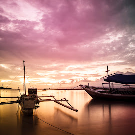 my boat and sunset by Arall Photoworks - Landscapes Beaches ( boating, sunset, boats, sunrise, boats boating, boat, sun )