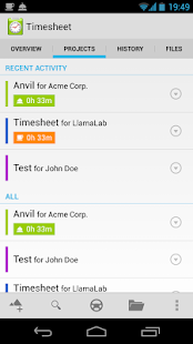 Timesheet - work time tracker Screenshot