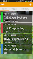 Screenshot of TimeTab (Timetable)