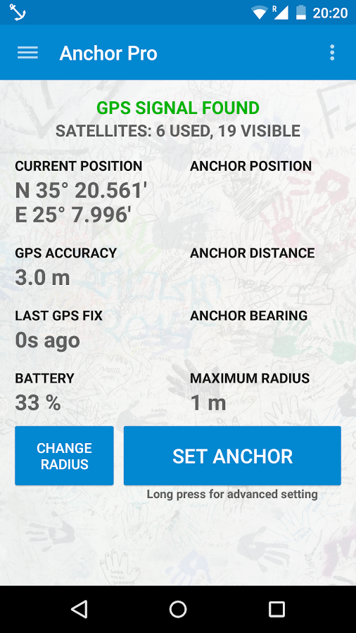 Anchor Watch Pro / Alarm Screenshot 1