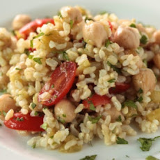 Brown Rice Salad with Cumin and Lime Vinaigrette
