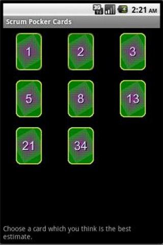 Scrum Poker Card