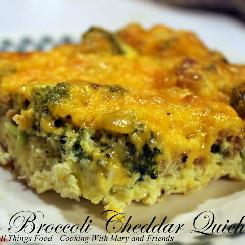 Crustless Bacon Broccoli Cheddar Quiche