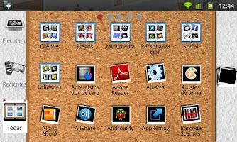 Screenshot of GO Launcher EX Artistic Theme