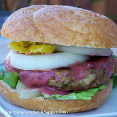 Thanksgiving Burger with Cranberry Aioli