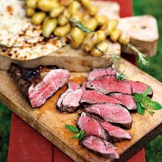 Grilled Lamb with Rosemary Potato Skewers