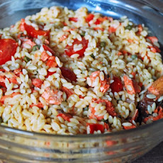 Grilled Salmon Orzo Salad