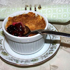 Russian Blueberry and Raspberry Pudding