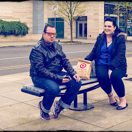 Lunch Date:Expect More Pay Less... by Kelli Tinker - People Couples ( urban, portland, expect more pay less..., lunch, sony rx1r, date, reference places )